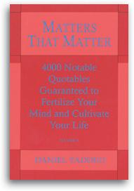 Matters That Matter, Vol. 1